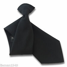 Negro Mate guardia de seguridad o Bouncer Clipper Clip en Snapper uniforme tie
