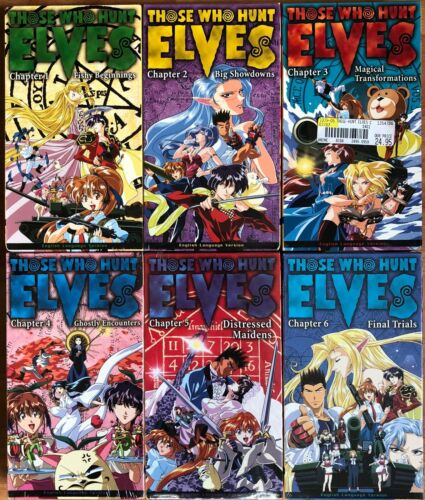 Lot of 6 Those Who Hunt Elves VHS Video New Anime English Dubbed Comp Collection