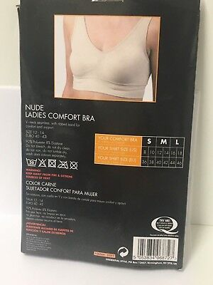 Nude Comfort Bra Non Padded Wire Free Seamless Full Coverage Bra Crop Top