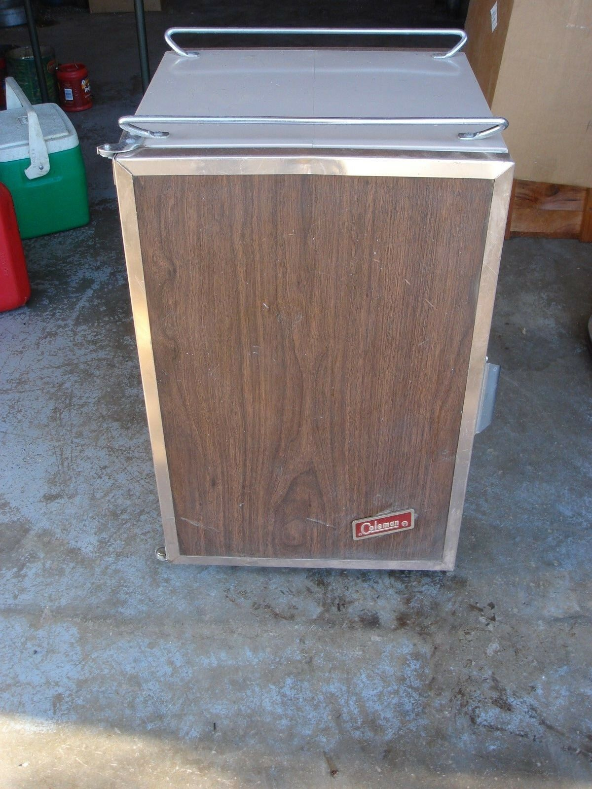 Vintage Coleman Cooler Congreenible Upright Refrigerator Ice Chest Box