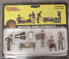 O scale PARK BUMS Woodland Scenics People # 2749