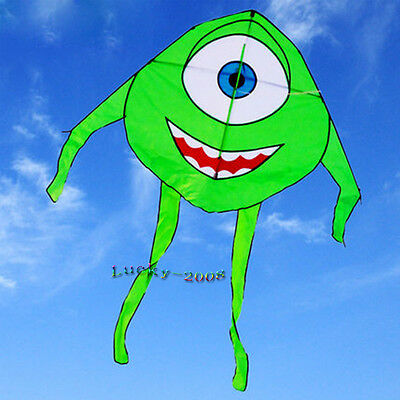"63""×39"" cute green frog kite single line outdoor sports for kids delta kites"