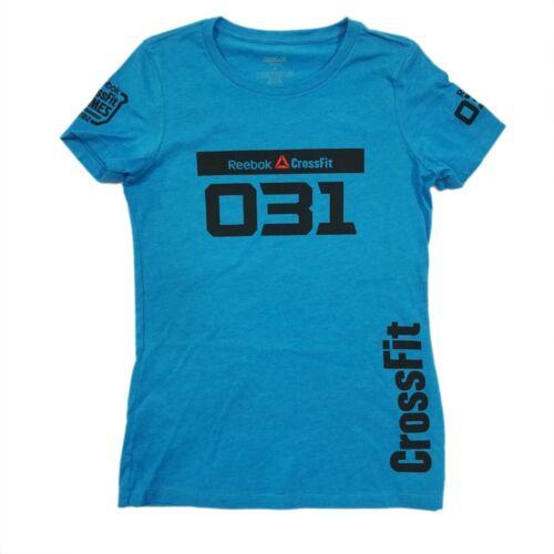 "Reebok Women/'s  2012 CrossFit Games REBECCA VOIGT /""031/"" Blue T-Shirt"