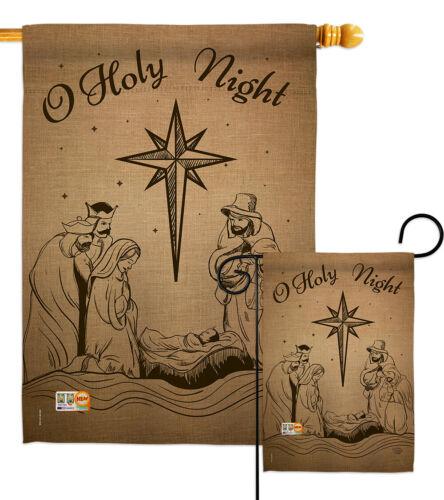 Holy Night Garden Flag Winter Nativity Small Decorative Gift Yard House Banner
