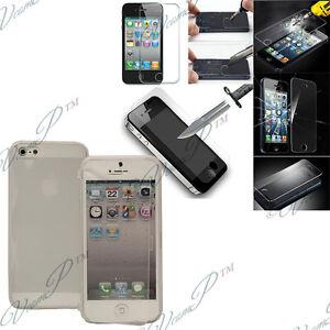 Etui-Coque-Films-Verre-Trempe-Portefeuille-Livre-Silicone-Apple-iPhone-5-5S-5SE