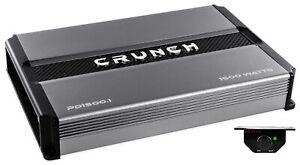 Crunch pd1500.1 1500 瓦單聲道擴音器 pro 電源車載立體聲低音放大器 AB 類