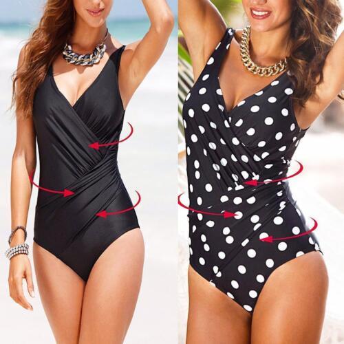 one-piece Push Up Padded Swimsuit Swimwear Beach Wear Plus Sizes DEdDE