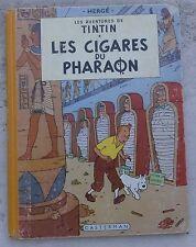 Tintin Les Cigares du Pharaon B14 EO couleurs Française 1955 Hergé