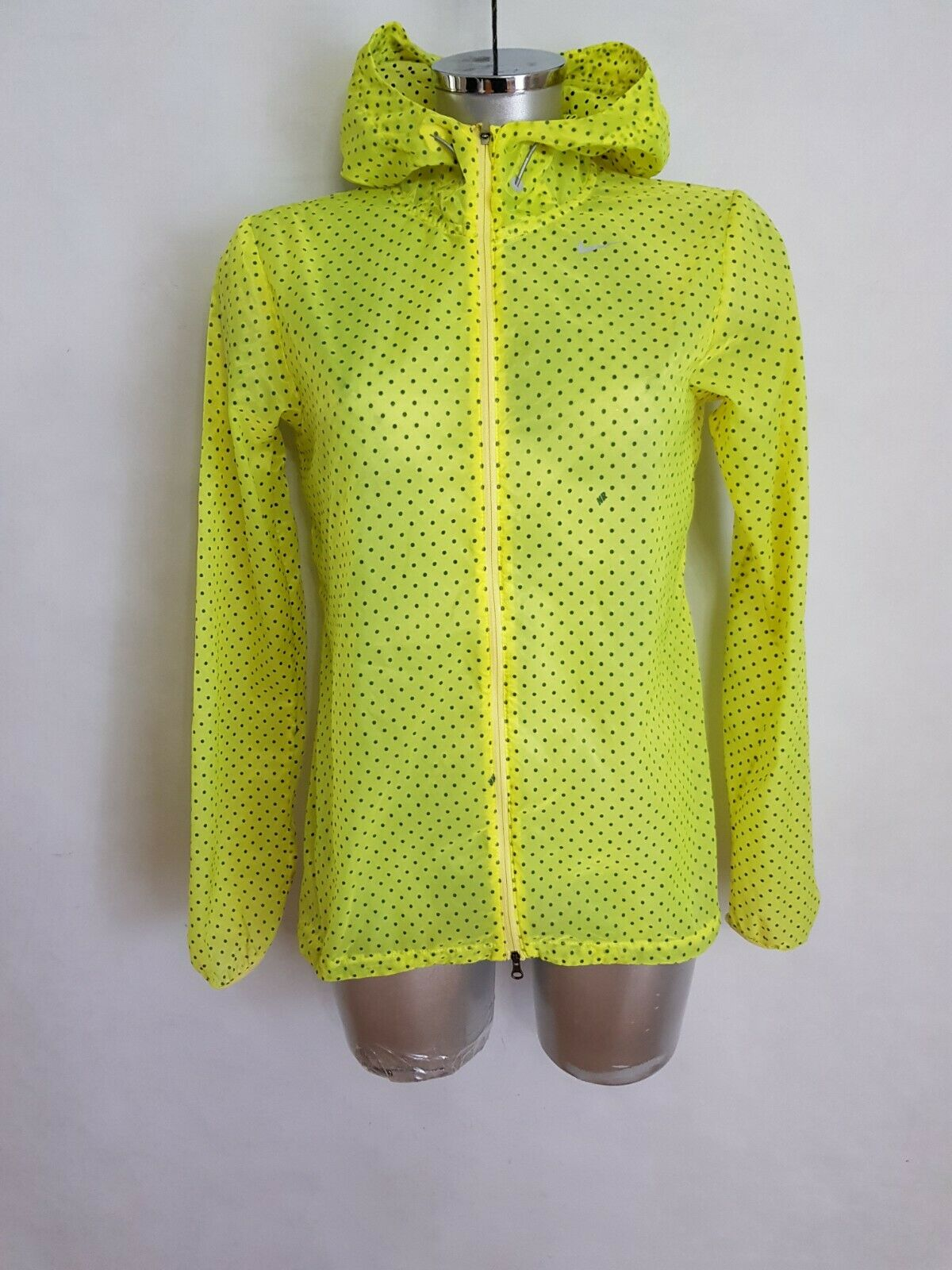Women's Nike Vapor cyclone Packable Running Rain Transparent Jacket S
