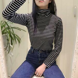 01769d3aab70 2018 New Striped Long Sleeve T Shirts Fashion Korean Style Women ...