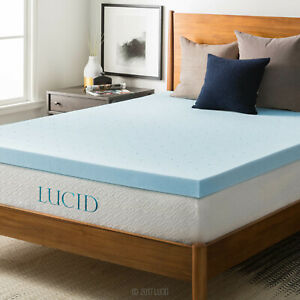 LUCID-2-3-4-Inch-Gel-Bamboo-Charcoal-and-Lavender-Infused-Mattress-Toppers