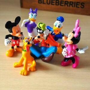 1 Set di 6 Disney Family Mickey Minnie Donald Daisy Goofy Pluto Figure Giocattolo Regalo