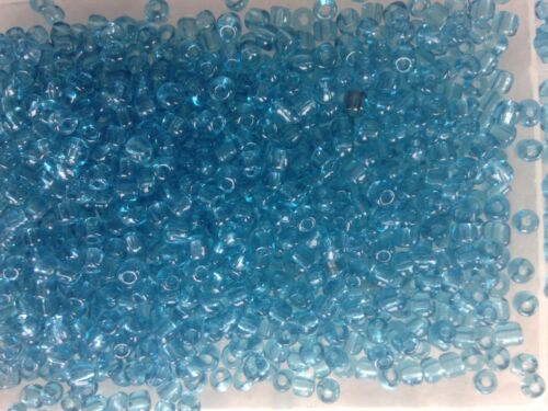 100g size 11 8 and 6 Transparent Turquoise Seed Beads