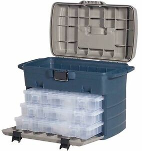 Details about Leeda Large Saltwater & Freshwater Tackle Box System + 3 Lure  Cases Fishing Box