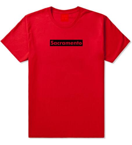 Sacramento California Red Box Short Sleeve T-Shirt