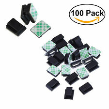 100x Adhesive Wire Cord Cable Holder Tie Clip Organizer Drop Clamp For Car Home