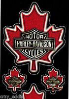 Four (4) Harley Davidson Canadian Maple Leaf Bar & Shield Sheet Of 4 Decals