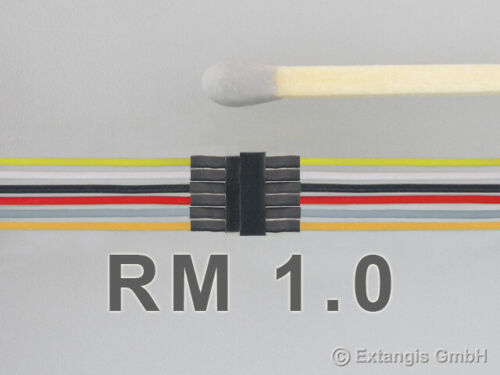H0 Connectors Mini-steckerset 6 Pole with Braid Colour Coding ideal for N