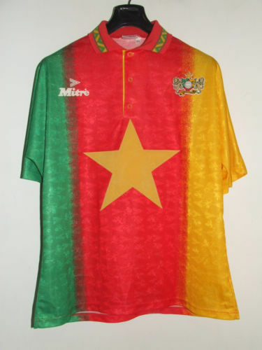 Maglia Camerun Cameroun XL chest 56 cm camiseta maillot calcio football shirt