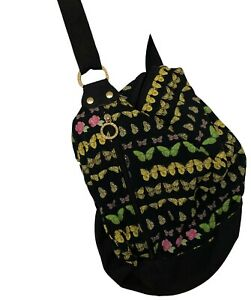 VERSACE-VINTAGE-BUTTERFLY-CANVAS-BUCKET-BAG