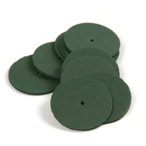 30Pcs Green Mini Ultrathin Slice Rubber Grinding Wheel Disc for Rotary Tools