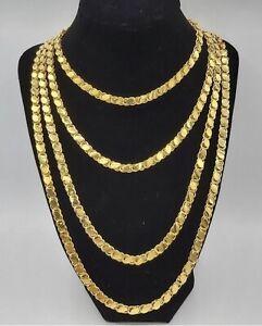 Türkische Gold Kette Altin Kaplama Pulu Zincir 22 Karat Vergoldet Ebay
