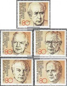 BRD-BR-Deutschland-1156-1160-kompl-Ausgabe-gestempelt-1982-Bundespraesidenten