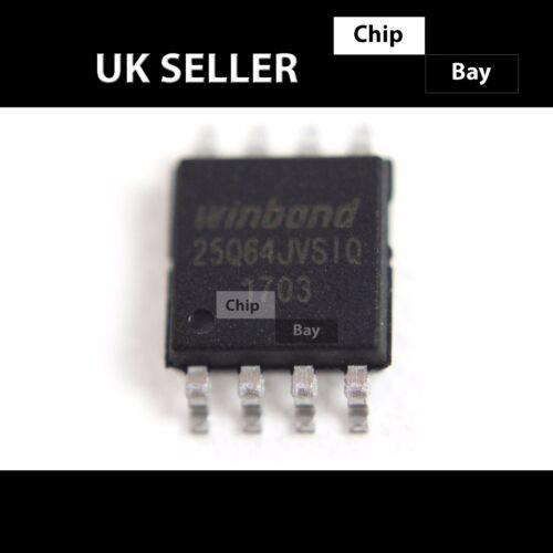 2x WINDBOND W25Q64JVSIQ 25Q64JVSIQ 25Q64JV SOP-8 FLASH BIOS Chip