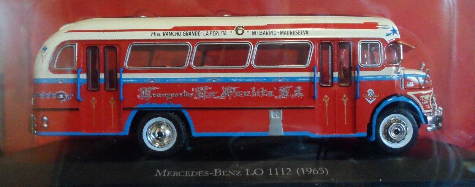 MERCEDES BENZ LO 1112 Bus 1965 silverINA  LA PERLITA diecast 1 43