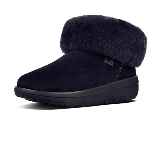 FitFlop Mukluk Shorty II Ankle Boots Navy