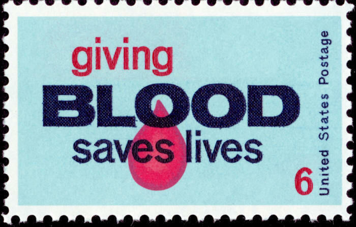 1971 6c Blood Donor, Giving Saves Lives Scott 1425 Mint