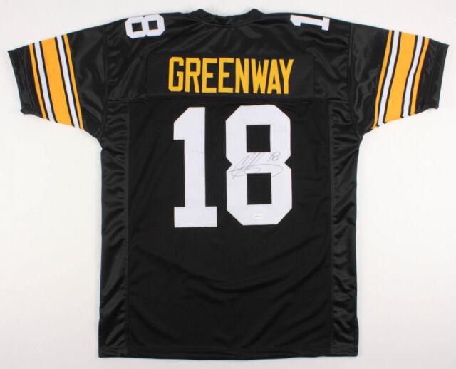 reputable site b903c 9133b Chad Greenway Signed Iowa Hawkeyes Black Jersey (TSE COA) Vikings Linebacker