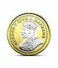 Pure Silver Coin 999 BIS Hallmarked King 24K Gold Plating 10 gms