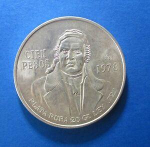 MEXICO 100 PESOS 1978 SILVER KM 438.2 #637#