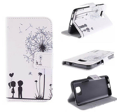 Dandelion Love Pattern Flip Wallet Card Leather Case Cover Stand For Cellphones