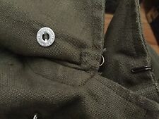 Vintage WWII FRANCE Military Stiff Material Canvas Uniform Overcoat Peacoat.