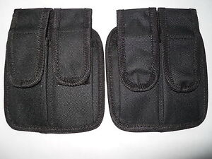 2-Double-mag-pouch-magazine-mags-fits-1911-black-nylon-fits-most-pistol-mags