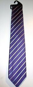 NEW-MEN-039-S-PURPLE-BLUE-AND-PINK-STRIPY-TIE-BY-MARKS-amp-SPENCER-STOCKING-FILLER