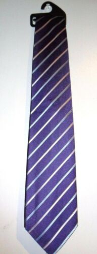 NEW MEN/'S PURPLE BLUE AND PINK STRIPY TIE BY MARKS /& SPENCER STOCKING FILLER