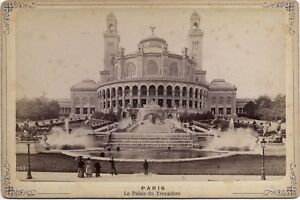 Trocadéro Paris animé France Vintage Albumine ca 1880