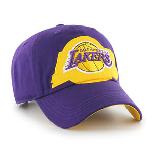hot sale online c0208 eb69f Image is loading Los-Angeles-Lakers-47-Brand-Clean-Up-Hat-