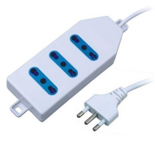 Multipresa Bipasso 3 Posizioni Ciabatta Presa Elettrica Cavo 1.5mt 16A dfh