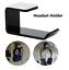 Acrylic-Headphone-Stand-Hanger-Hook-Tape-Under-Desk-Dual-Headset-Mount-Holder-L thumbnail 1