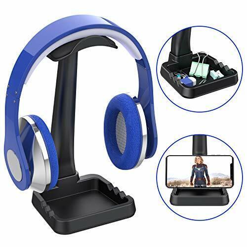 Universal Headphone Stand Hanger with Phone Holder,[Non-Slip Design]