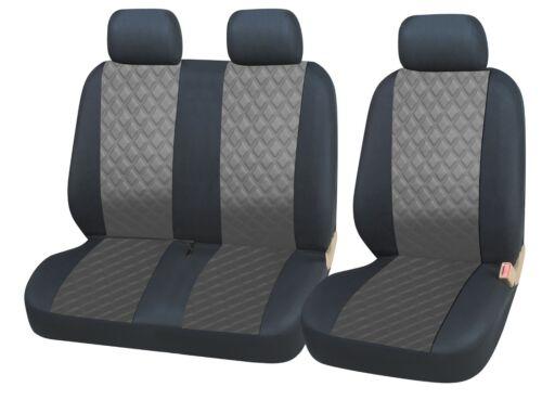 Vordere Schonbezüge Kunstleder Grau Kunstleder Bus für Ford Iveco Mercedes Benz