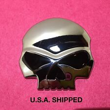 New Metal WILLIE G SKULL EMBLEM HARLEY DAVIDSON / GAS TANK  SHIELD BADGE