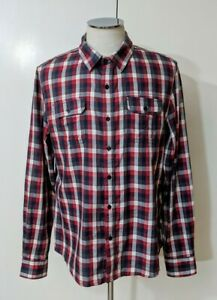 Mens-Mossimo-Plaid-Button-Down-Shirt-Sz-XL-Long-Sleeve-Front-Pockets-Cotton
