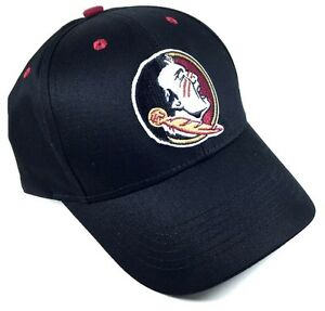 fb22d48a92f BLACK FLORIDA STATE UNIVERSITY FSU SEMINOLES LOGO HAT CAP ADJUSTABLE ...