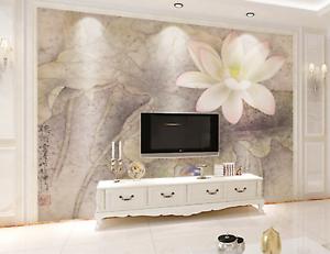 3D Lotus Pattern 637 Wallpaper Murals Wall Print Wallpaper Mural AJ WALL AU Kyra