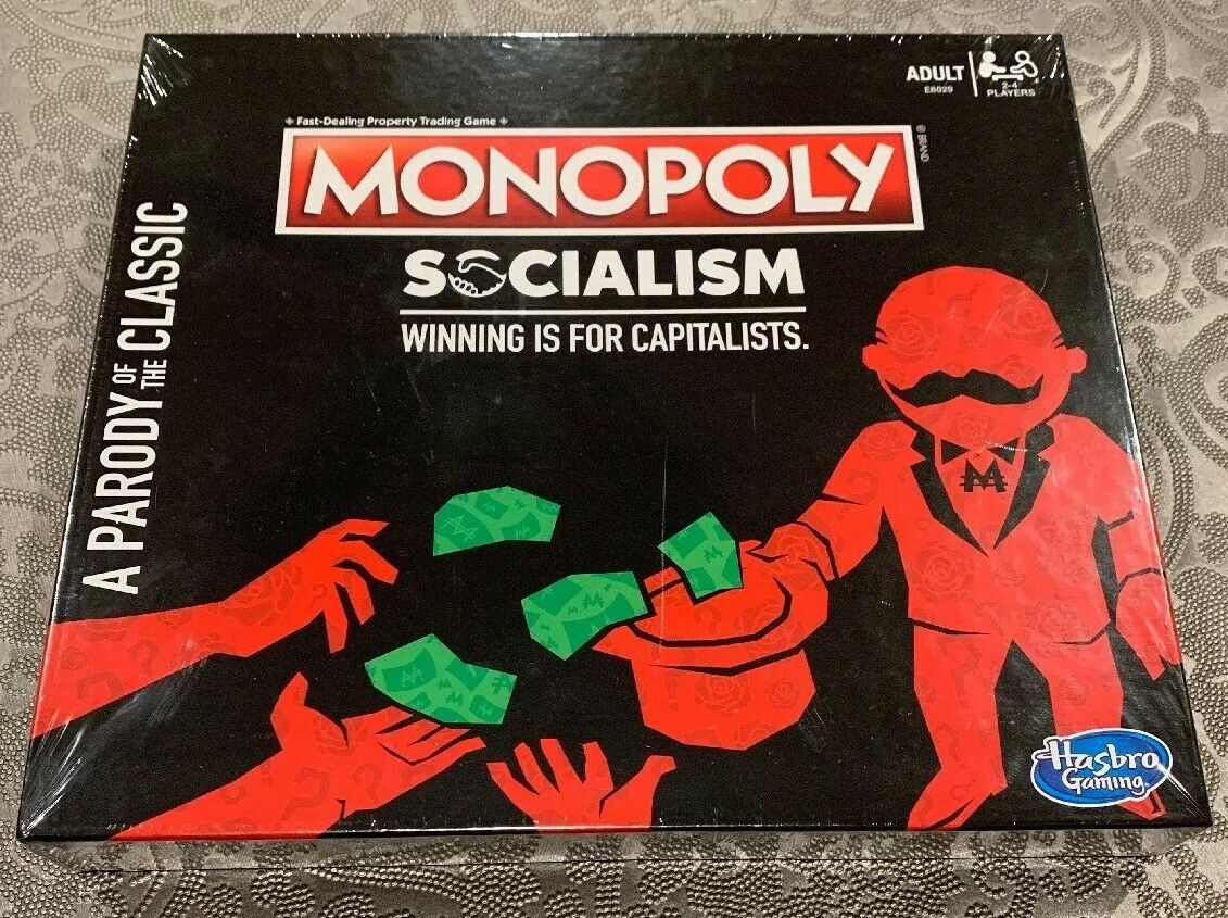 Monopoly Socialism Winning Is For Capitalists Parody Classic Game RARE & IN HAND